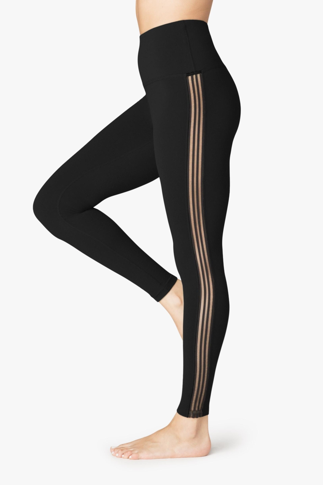 Beyond Yoga Sheer Illusion Legging - Front Cropped Image
