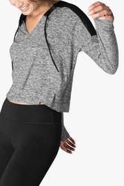 Beyond Yoga Spacedye Cropped Hoodie - Front full body