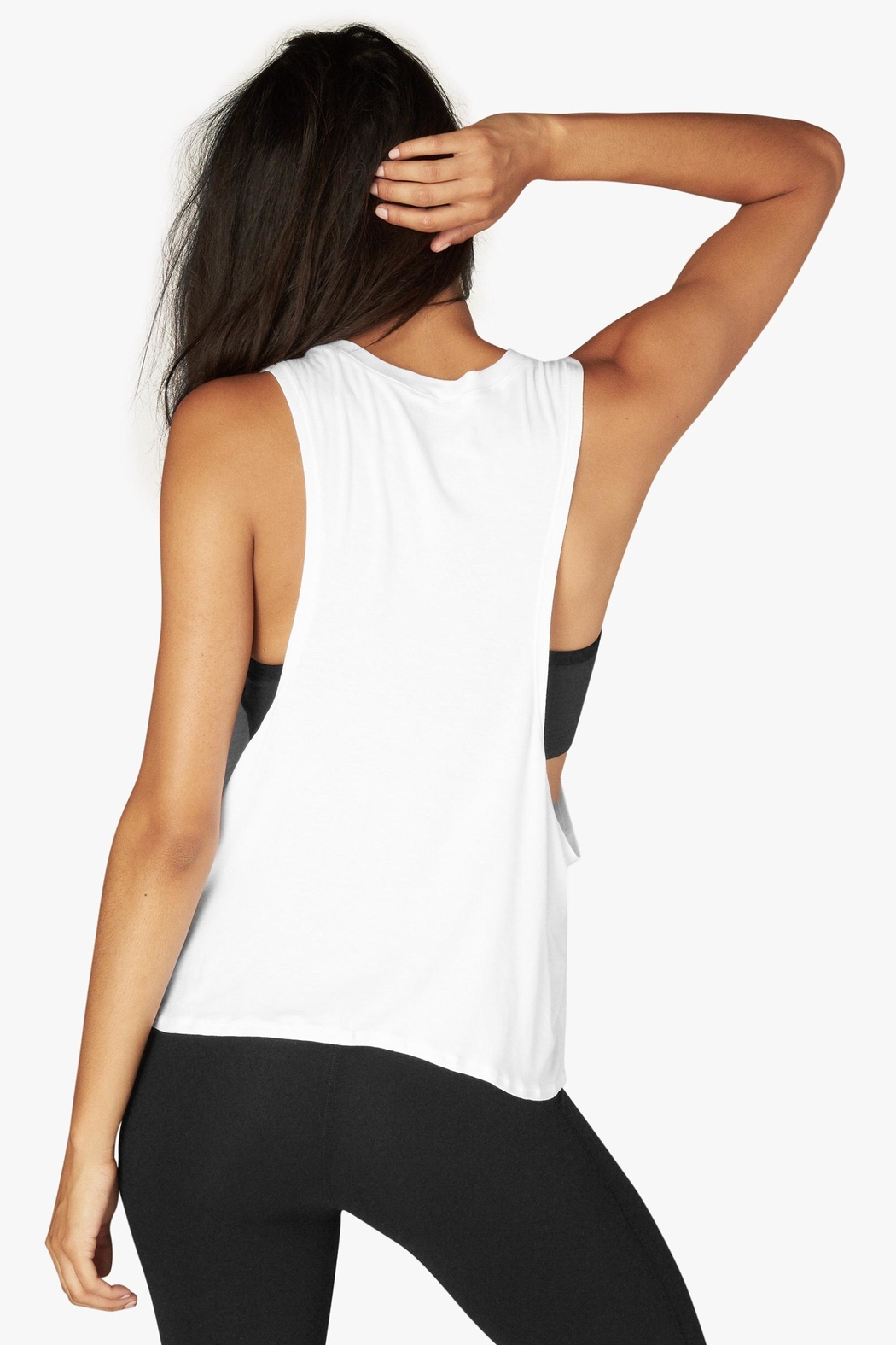 Beyond Yoga Tied Up Tank Top - Back Cropped Image