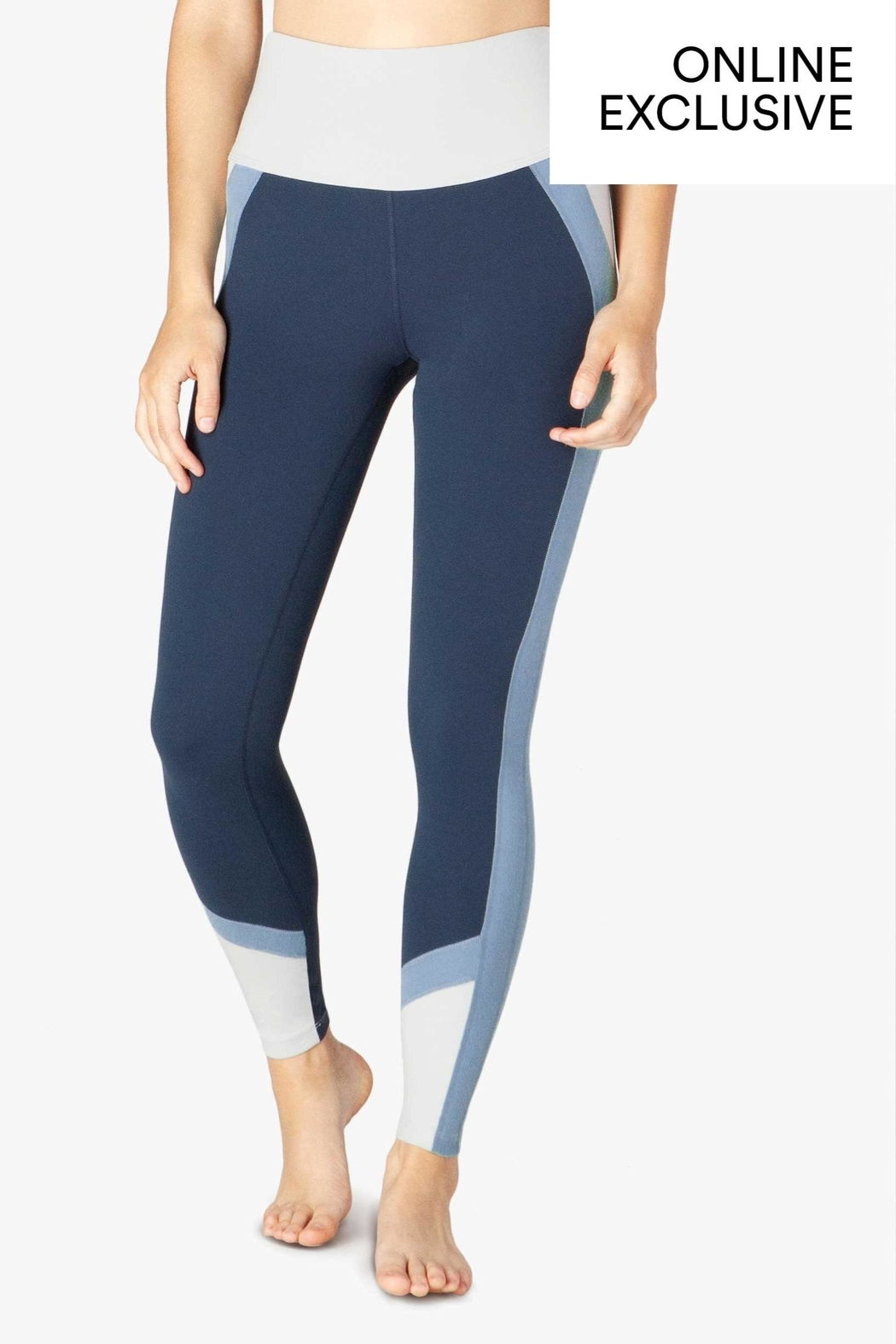 Beyond Yoga True Colorblock Legging - Front Cropped Image