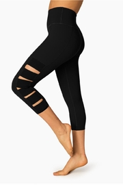 Beyond Yoga Wide Band Capri - Front full body