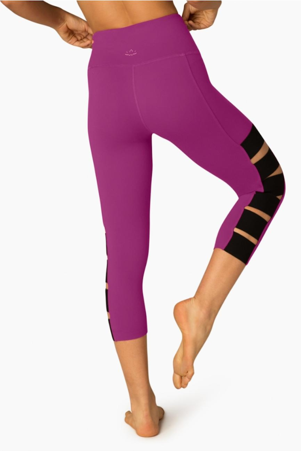 Beyond Yoga Wide Band Capri Leggings - Side Cropped Image
