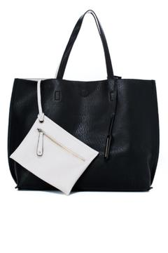 Shoptiques Product: Black/ivory Reversible Tote