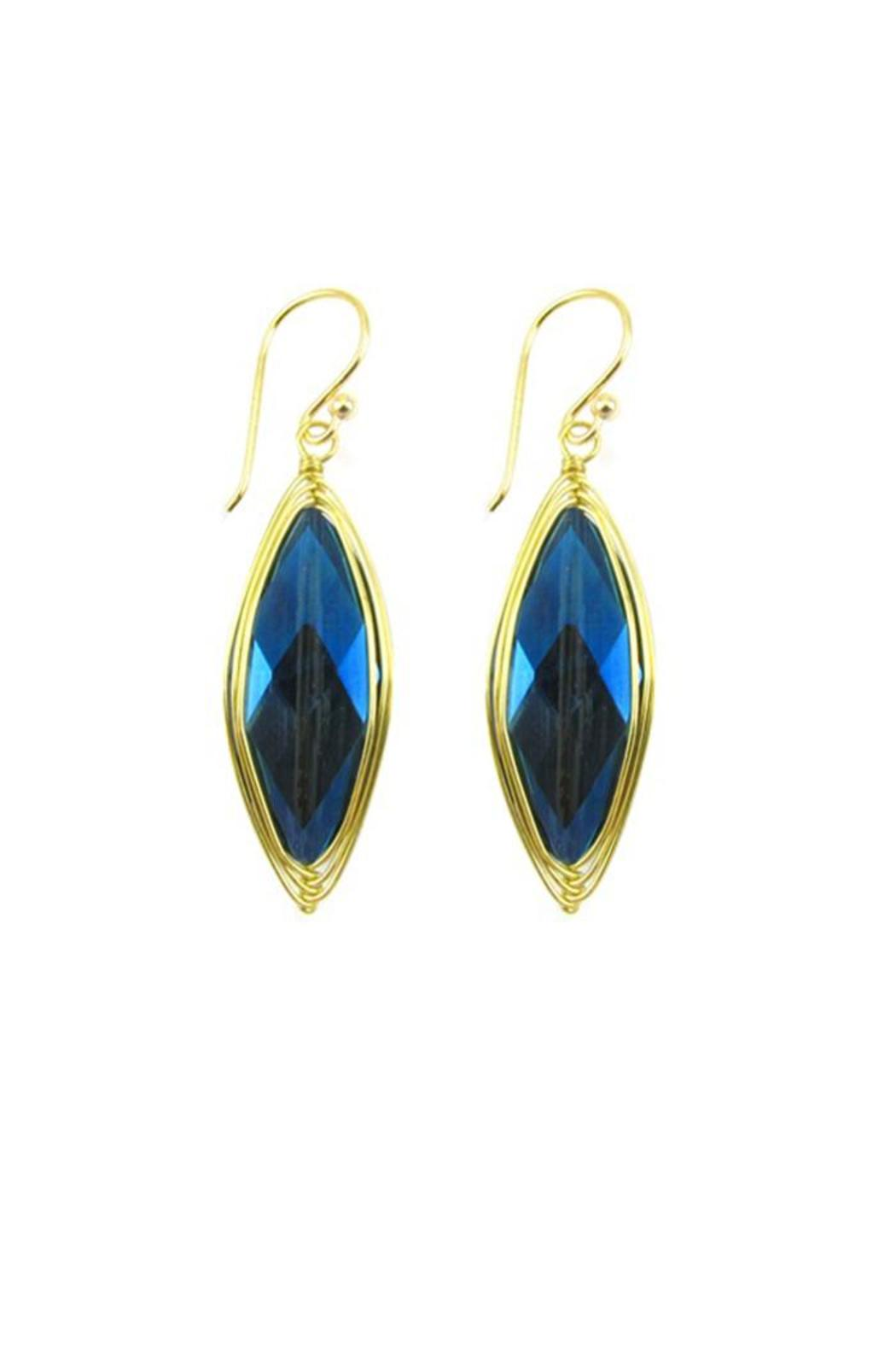 Ananda Crystal Drop Earrings - Front Cropped Image