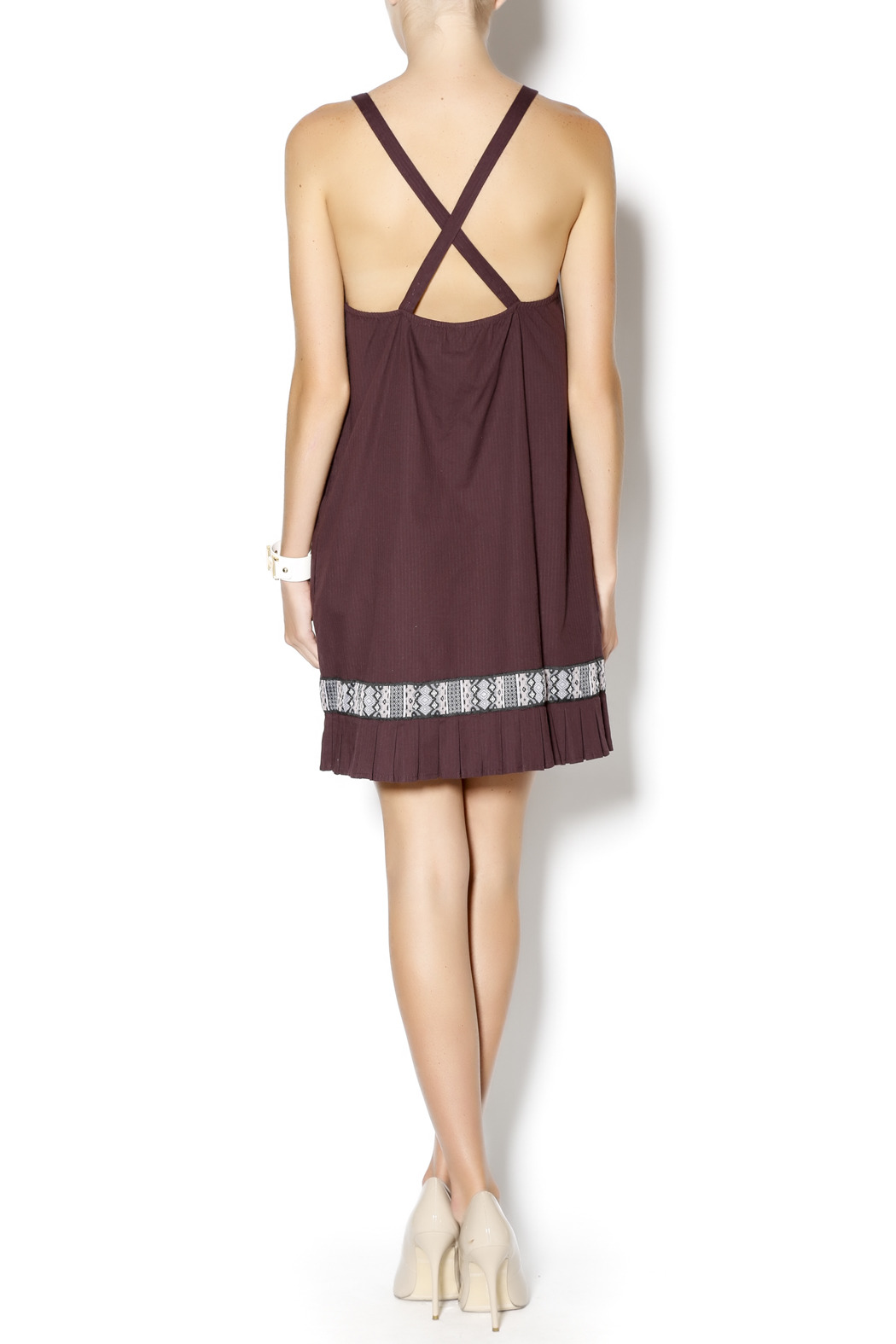 Free People Native Sun Shift Dress - Side Cropped Image