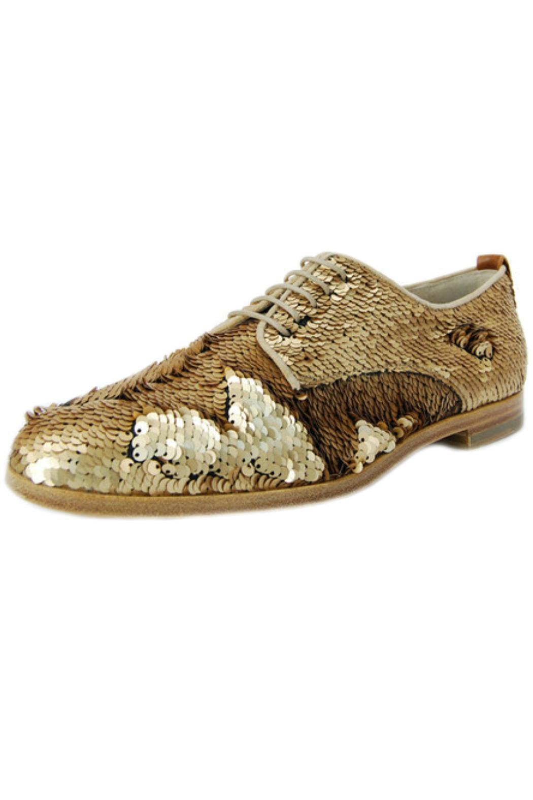 AGL  Bronze Sequin Brogue - Front Cropped Image