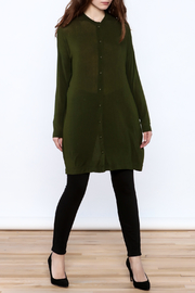 Bia Miro Olive Lightweight Cardigan - Front full body