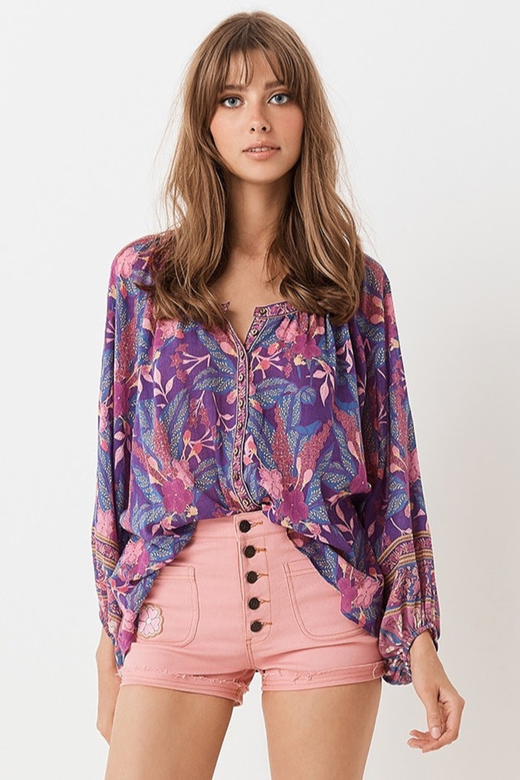 Spell  Bianca Blouse In Wisteria - Main Image