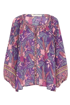 Spell  Bianca Blouse In Wisteria - Alternate List Image
