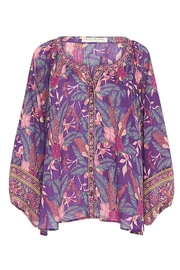 Spell  Bianca Blouse In Wisteria - Back cropped