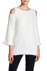 Lucca Bianca Fuzzy Sweater - Product Mini Image
