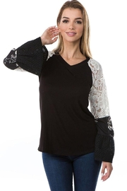 Vava by Joy Hahn Bianca Ruffle Sleeve Shirt - Product Mini Image