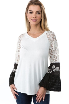 Vava by Joy Hahn Bianca Ruffle Sleeve Shirt - Product List Image