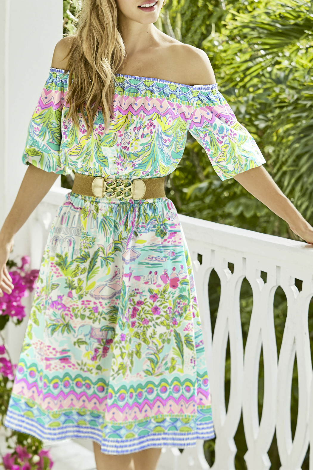 Lilly Pulitzer Bianca Stretch Belt - Side Cropped Image