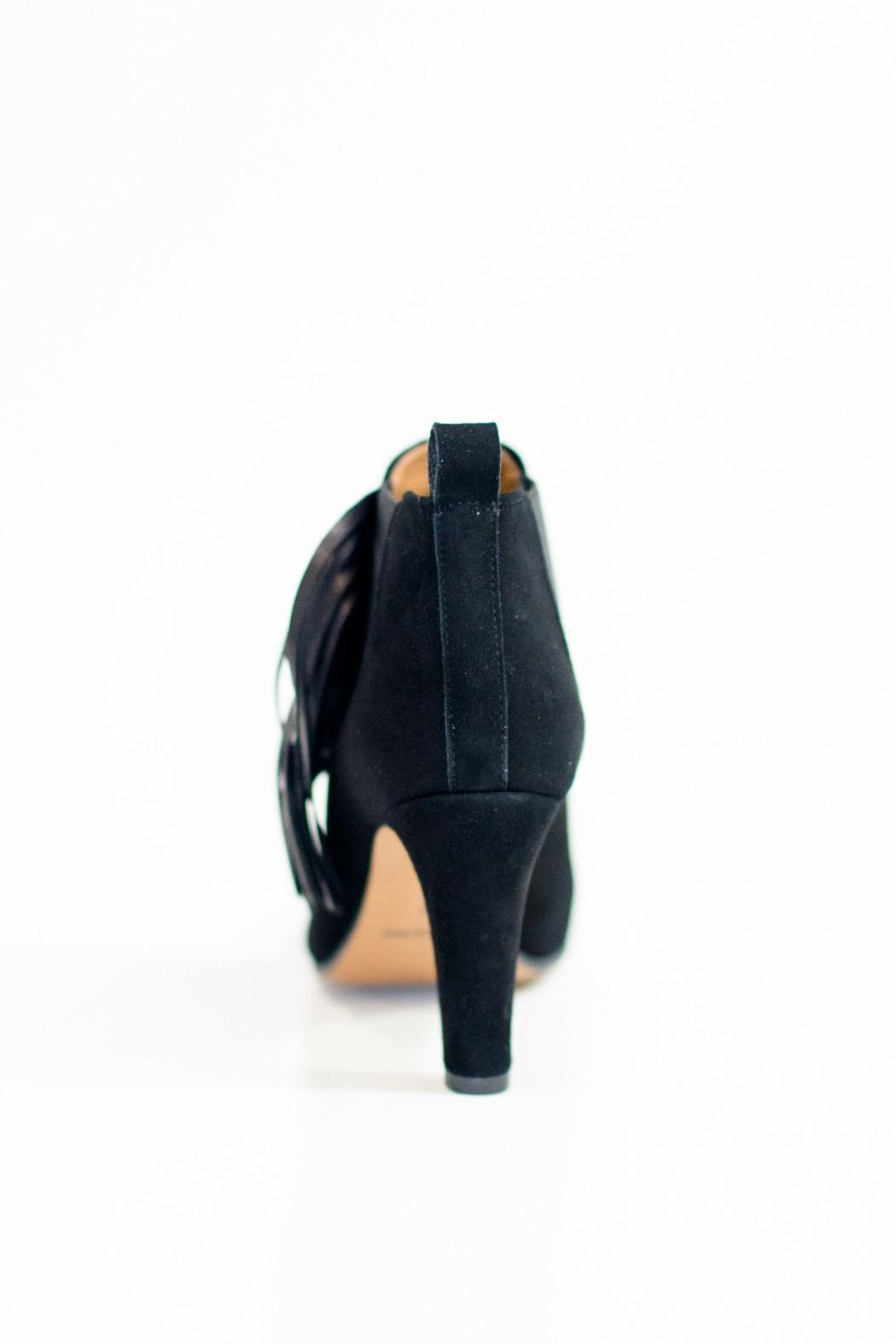 Bianca Di Fringe Ankle Booties Black - Side Cropped Image
