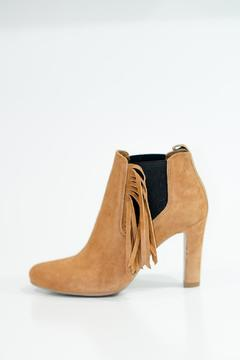 Shoptiques Product: Fringe Ankle Booties Tan