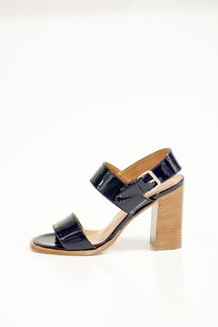 Bianca Di Navy Leather Sandal - Product List Image