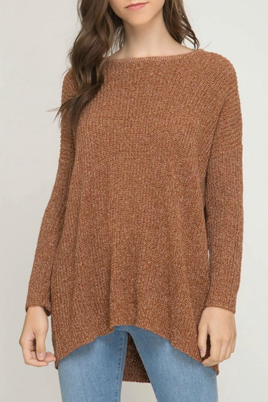 She + Sky Bianca Tunic Sweater - Front Cropped Image