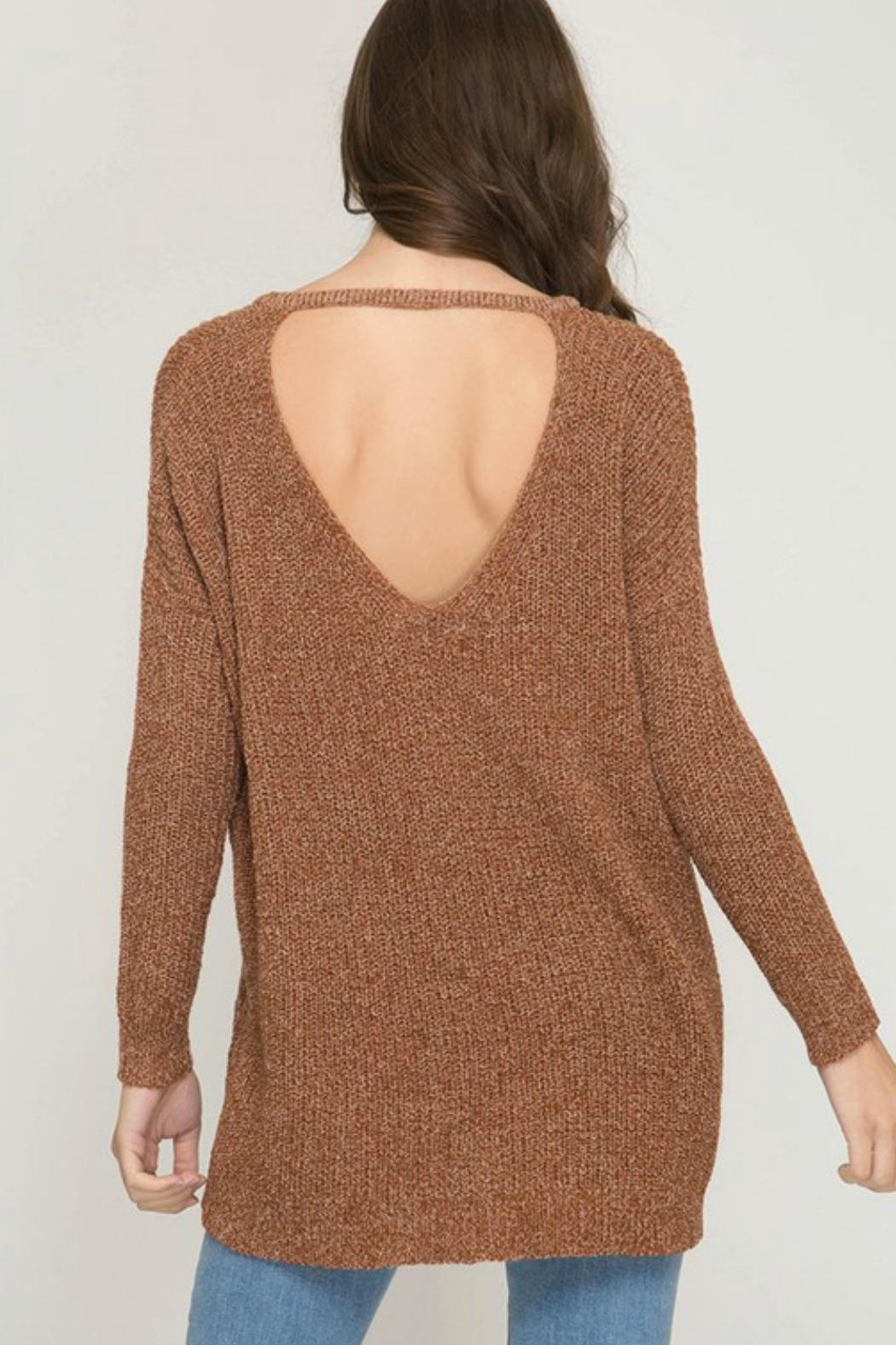 She + Sky Bianca Tunic Sweater - Front Full Image