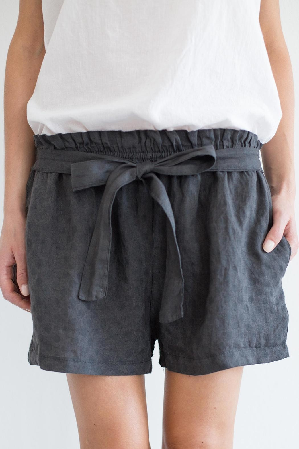 Bianco Concept Store Dark Grey Shorts - Front Cropped Image