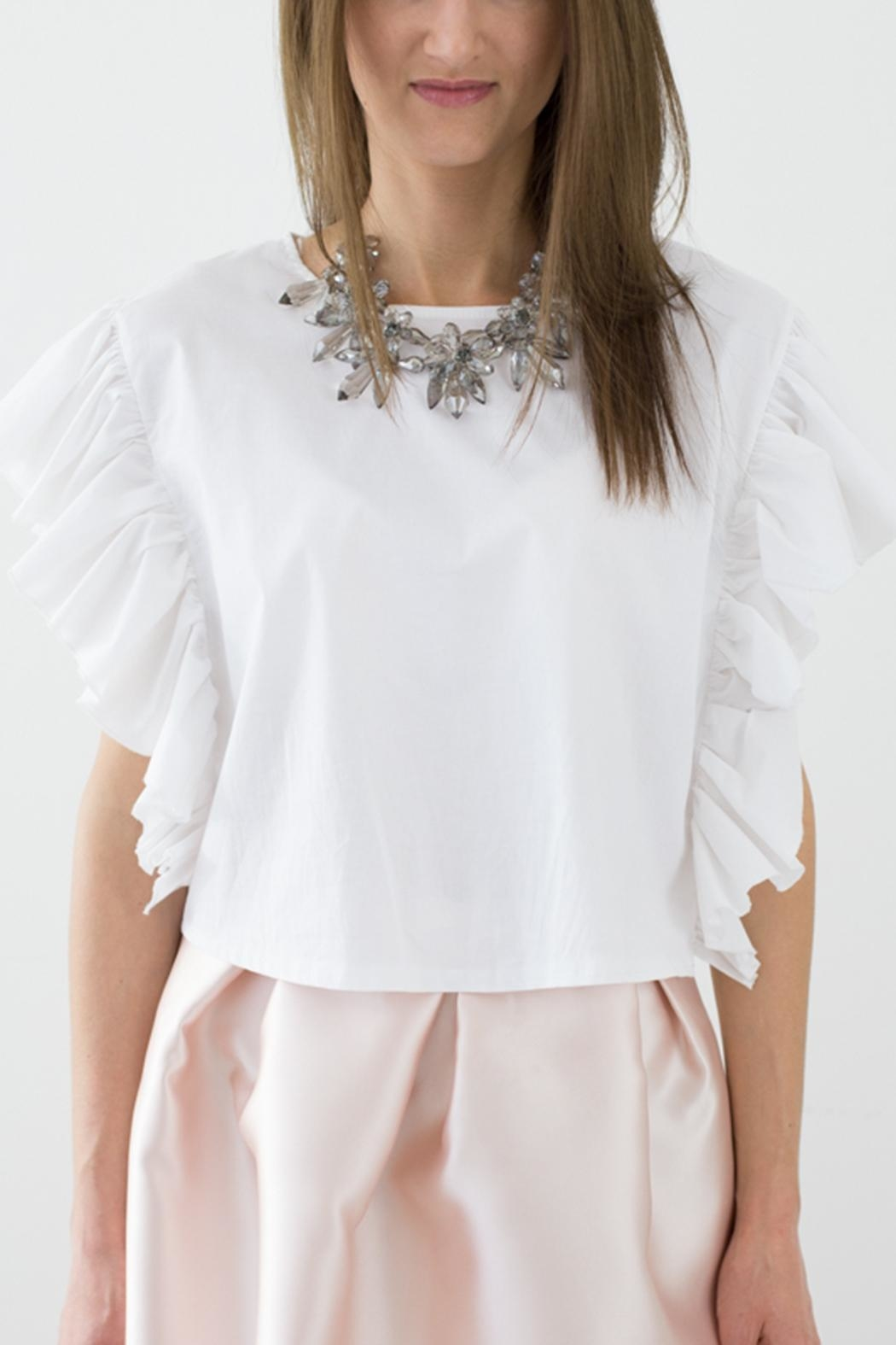 Bianco Concept Store White Top - Side Cropped Image