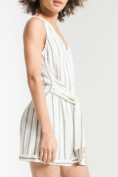 rag poets Biaritz Striped Romper - Alternate List Image