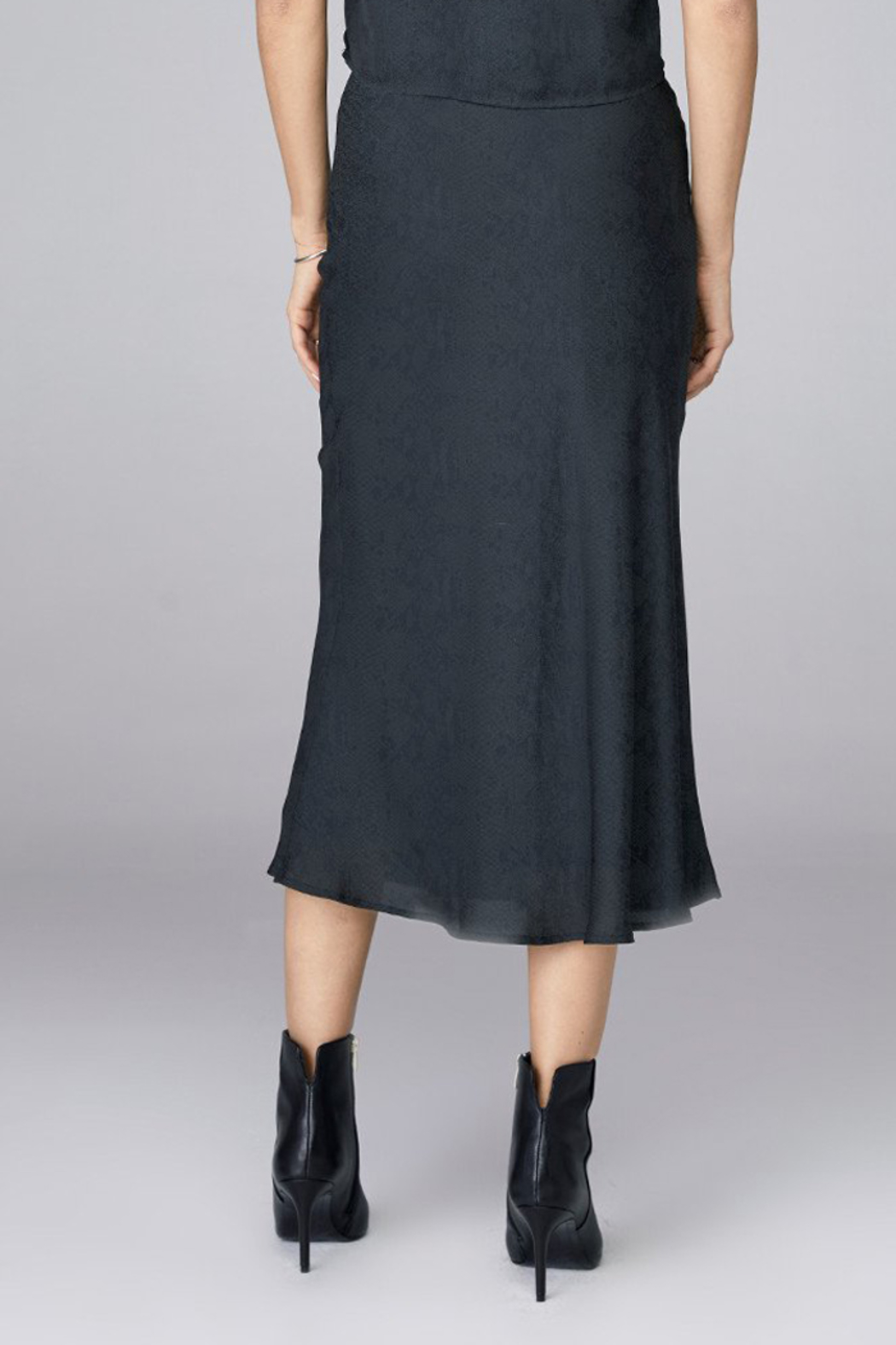 David Lerner  BIAS MIDI SKIRT - Front Full Image