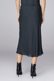David Lerner  BIAS MIDI SKIRT - Front full body