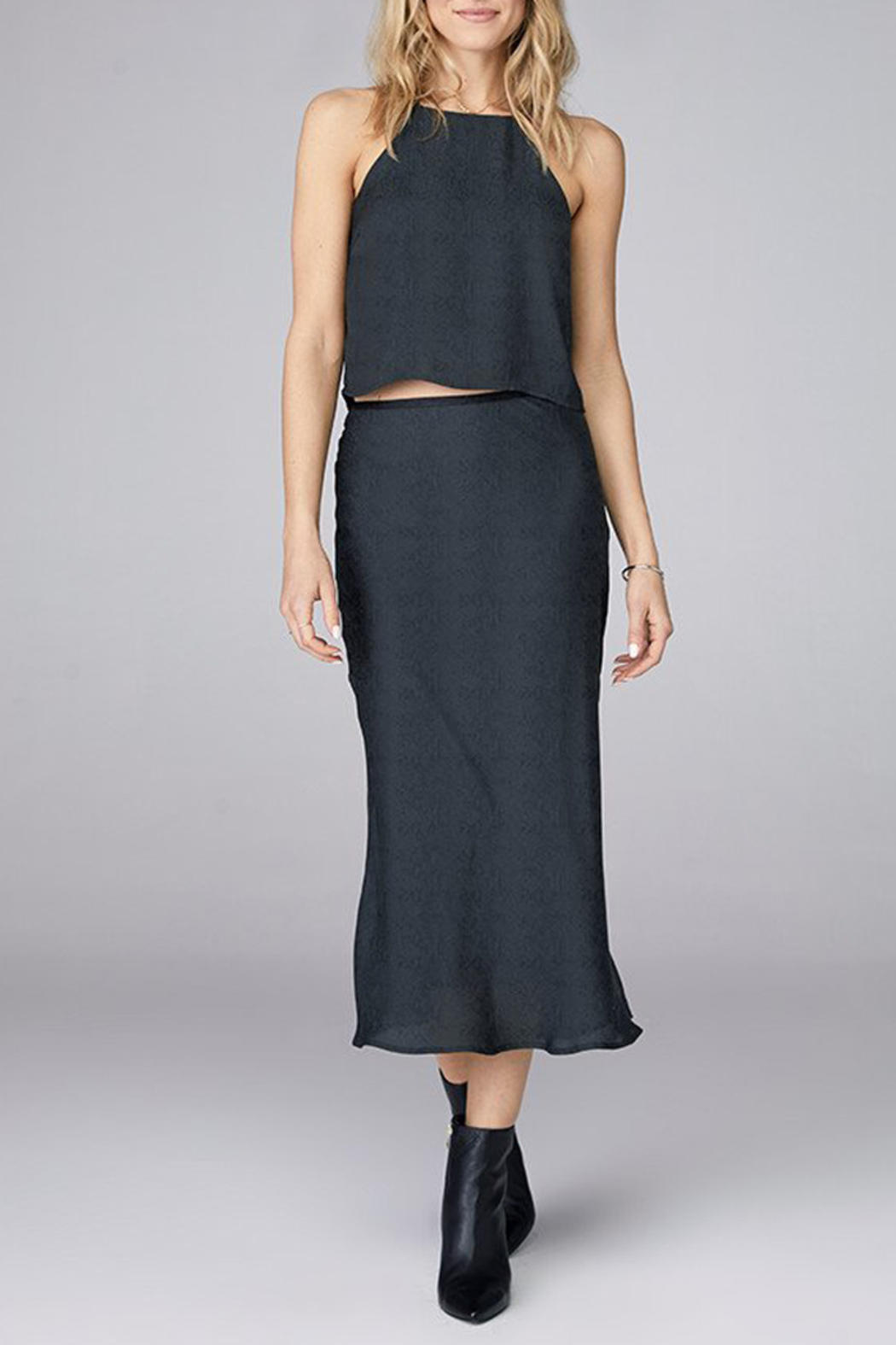 David Lerner  BIAS MIDI SKIRT - Side Cropped Image