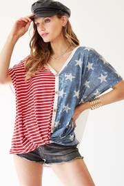 Bibi American Waffle Top - Front cropped