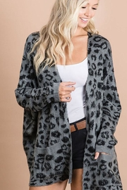 Bibi Animal Leopard Lightweight Open Front Cardigan - Product Mini Image