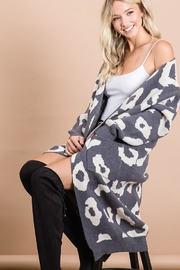 Bibi Animal Leopard Print Knit Long Cardigan - Product Mini Image