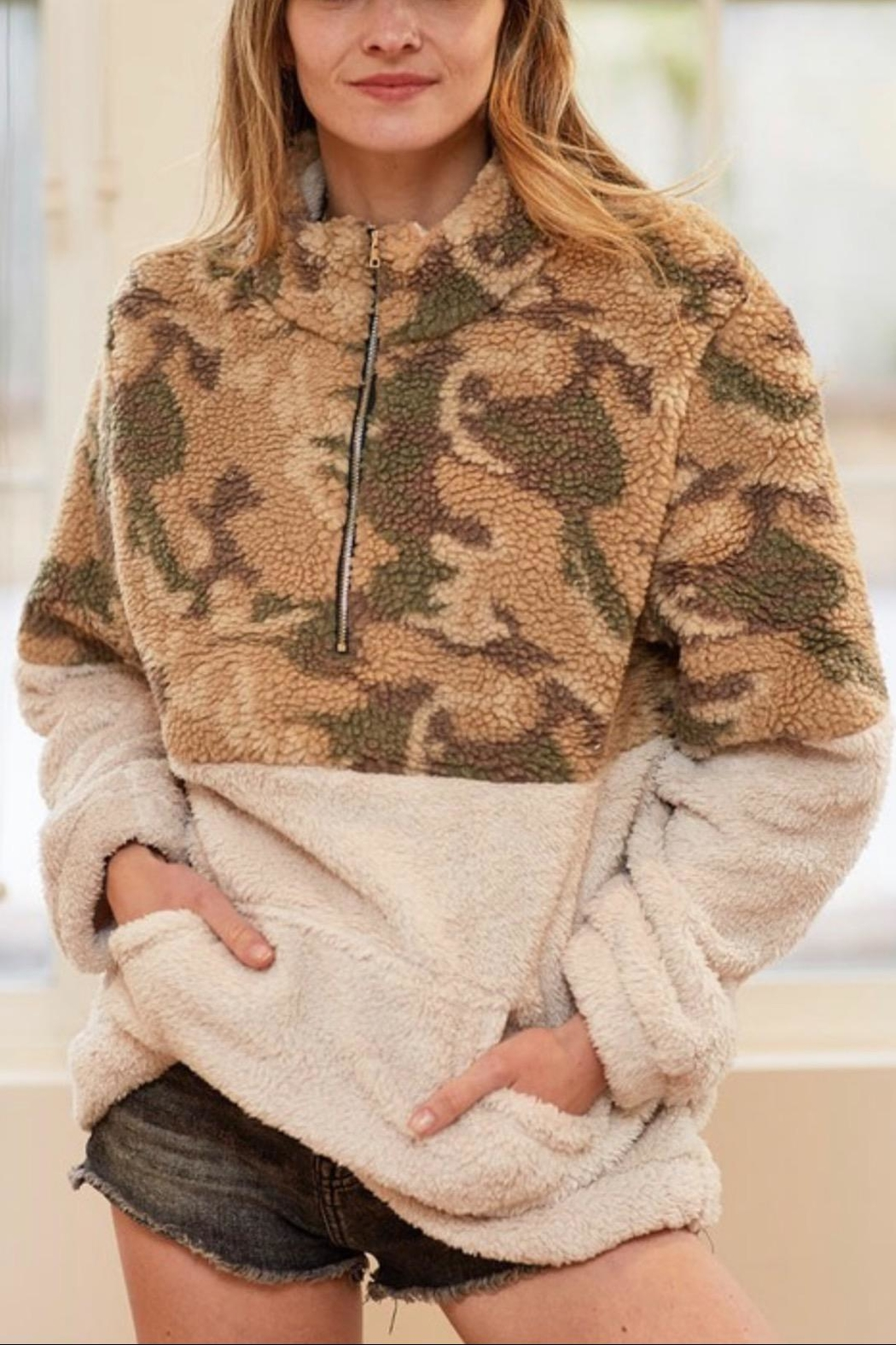 Bibi Camouflage Pullover - Front Cropped Image