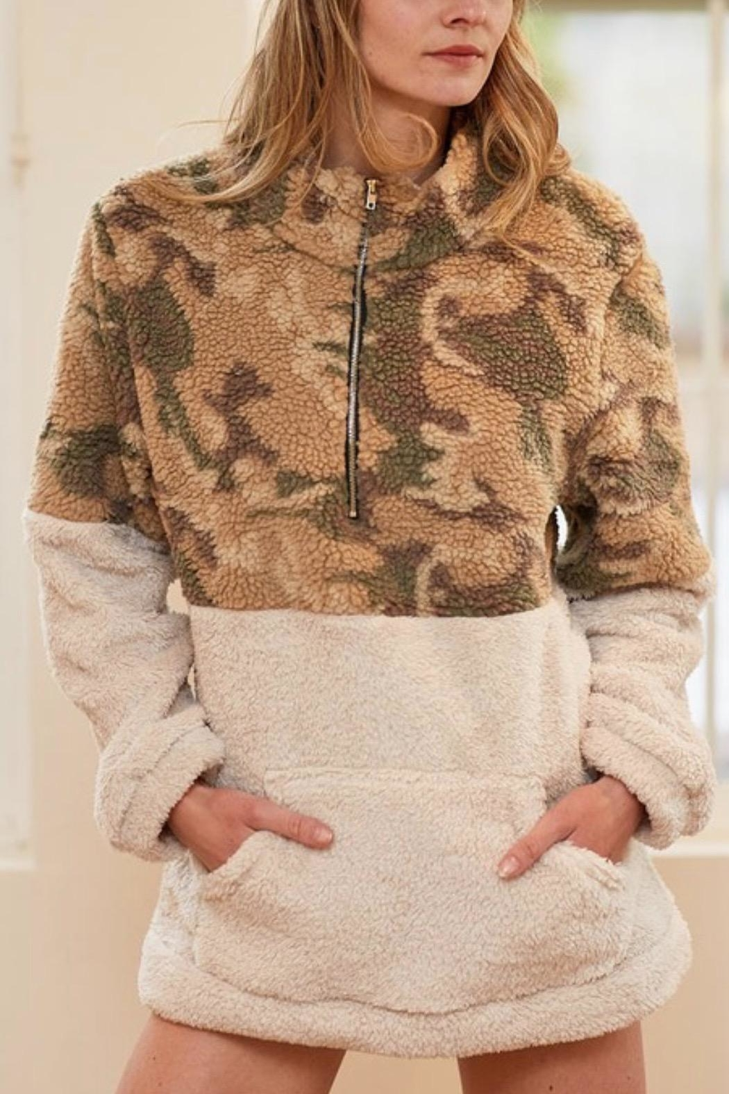 Bibi Camouflage Pullover - Front Full Image