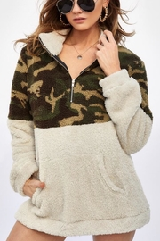 Bibi Camouflage Pullover - Front cropped