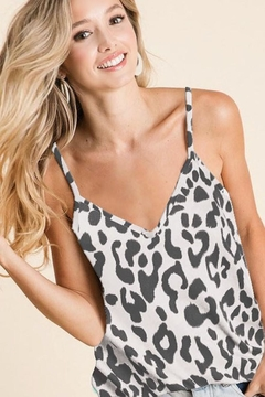 Bibi Charlotte's Charcoal Leopard Top - Product List Image