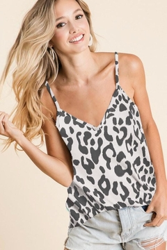 Bibi Charlotte's Charcoal Leopard Top - Alternate List Image