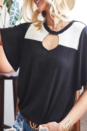 Bibi Color Block Top - Front cropped