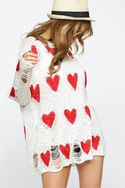 Bibi Distressed Heart Top - Front full body