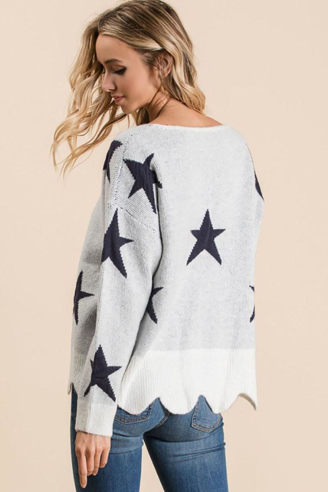 Bibi Fly High Star Pullover Sweater - Front Full Image