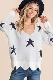 Bibi Fly High Star Pullover Sweater - Product Mini Image