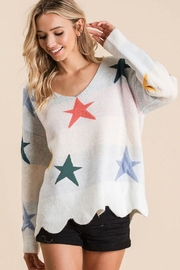 Bibi Fly High Star Pullover Sweater - Front full body