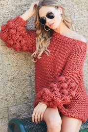 Bibi Handmade Pom Pom Knit Pullover Sweater - Product Mini Image