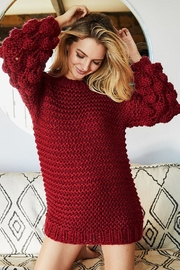 Bibi Handmade Pom Pom Knit Pullover Sweater - Front full body