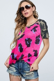 Bibi Leopard Camo Top - Front cropped