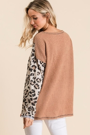 Bibi Leopard Color Block Top - Product Mini Image