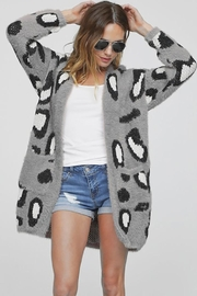 Bibi Leopard Open-Front Cardigan - Product Mini Image