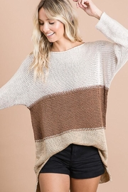 Bibi Colorblock Breathable Knit Pullover Top - Product Mini Image