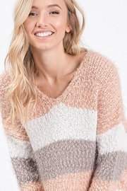 Bibi Lightweight Colorblock Popcorn Pullover - Front cropped
