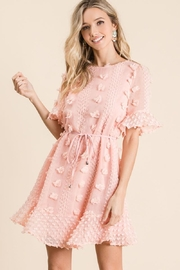 Bibi Make Them Blush Pom Pom Dress - Product Mini Image